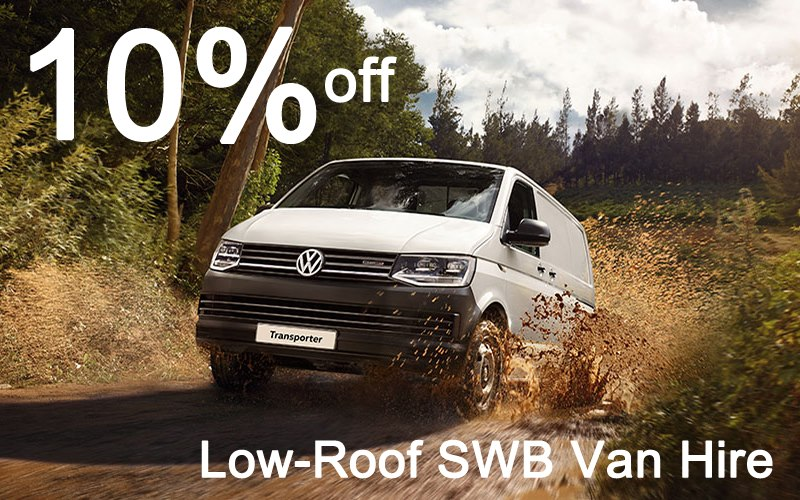 10% off Low-Roof SWB Van Hire from Limesquare this July 2016!