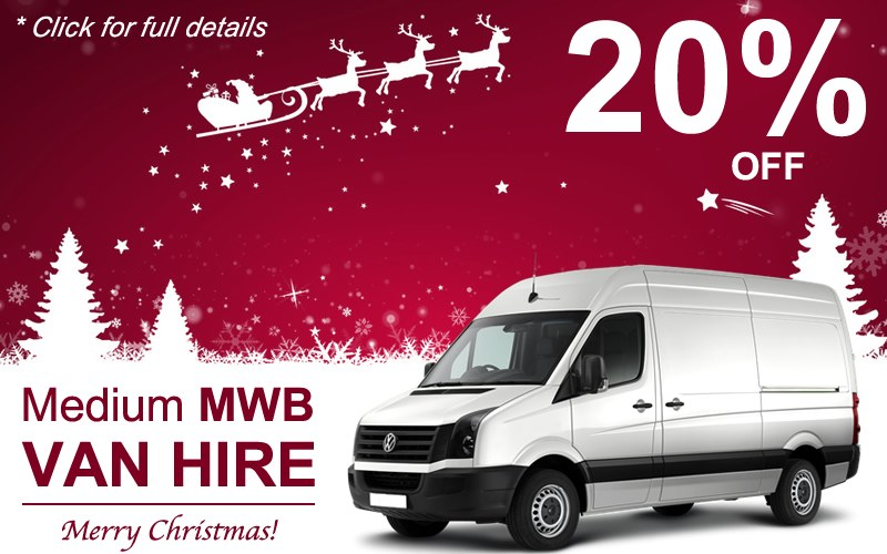 Get 20% off MWB Van Hire this Christmas.